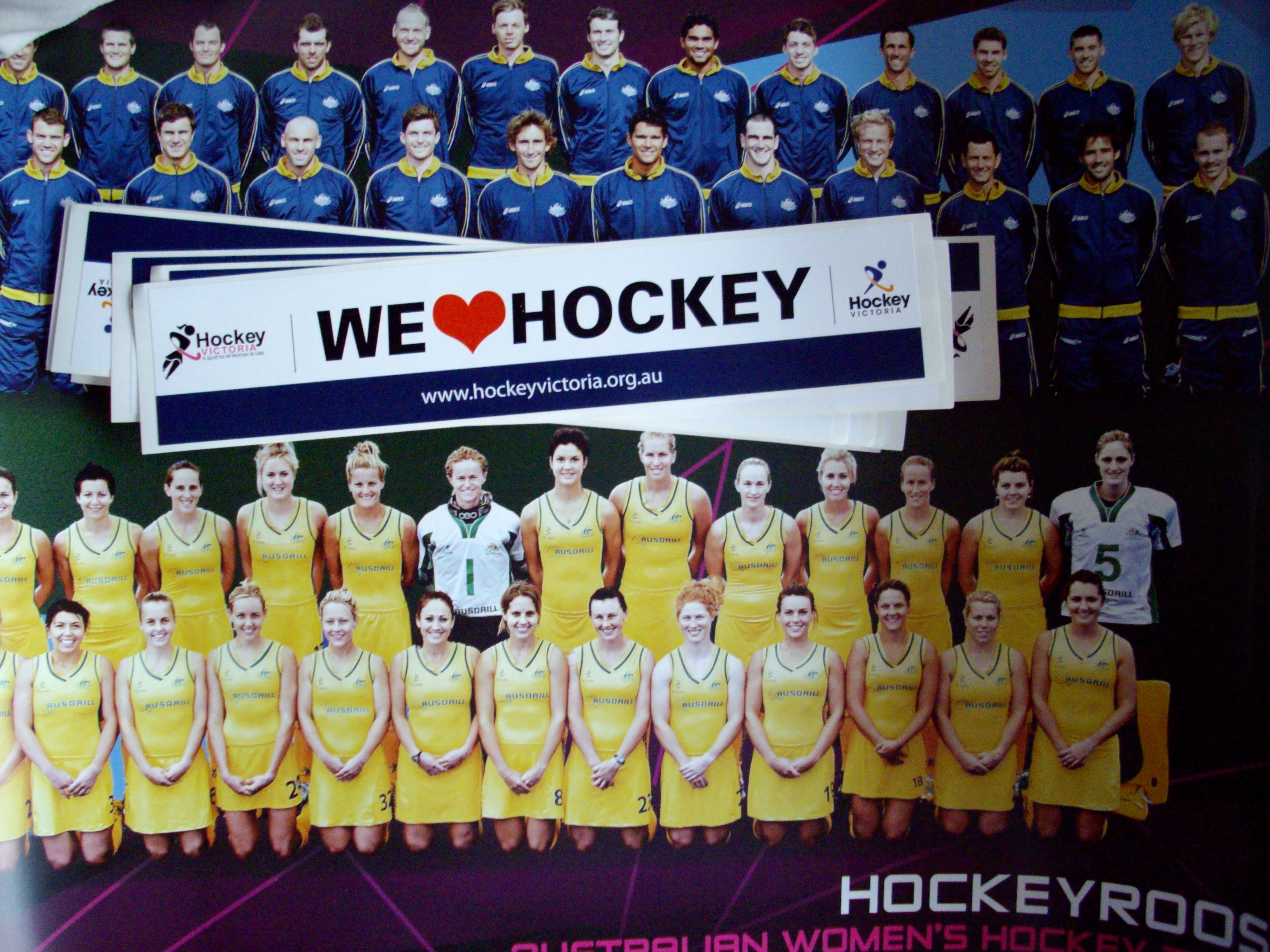 Thanks Hockey Victoria for the stickers and Aussie Team posters